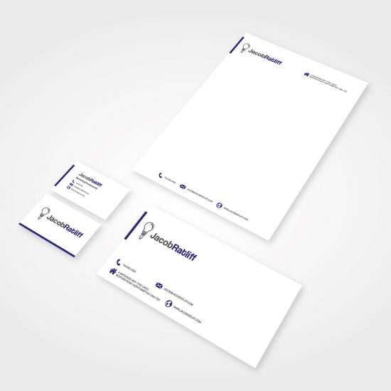 Jacob Ratliff Logo on Businsess Stationary