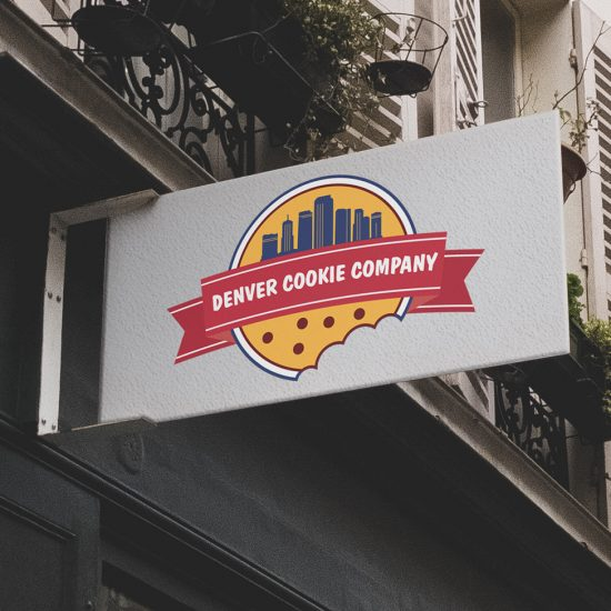 Denver Cookie Company Logo on outside building sign