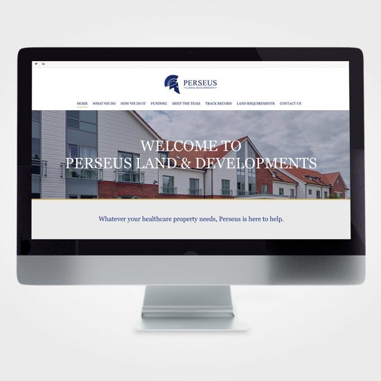 Perseus Business Website on screen
