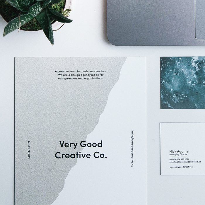 Sqaure image of business stationery